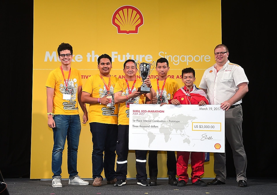 Team Virgin from Thailand, winners of the Prototype competition (Internal Combustion Engine category)