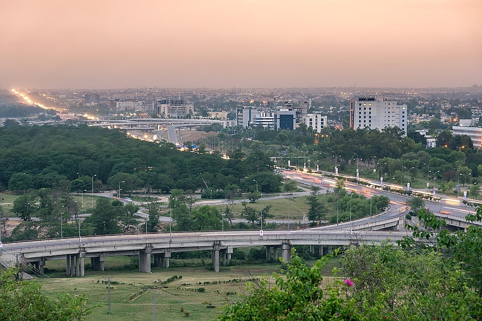 Panoramic view of Islamabad Pakistan
