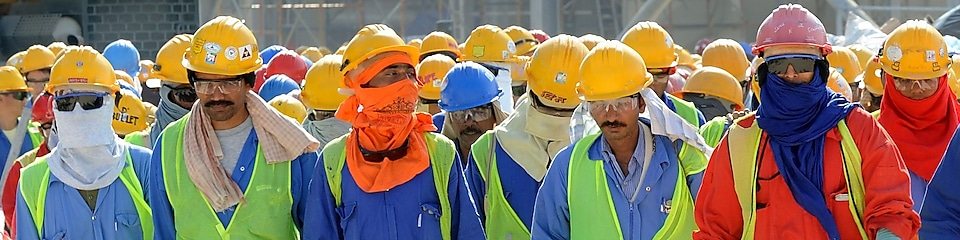 Employees at Pearl GTL plant