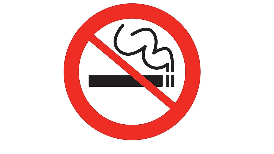 Do not smoke outside designated smoking areas